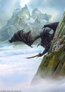 424px-John_Howe_-_Glorfindel_And_The_Balrog