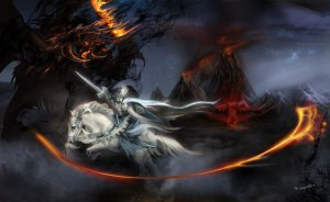 feanor_vs_gothmog__lord_of_balrogs_by_bobgreyvenstein-d79455u