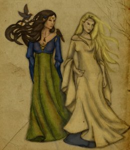 Galadriel_and_Melian_by_yalanrei