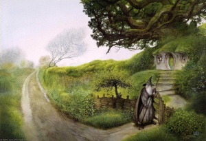 800px-John_Howe_-_Gandalf_Returns_to_Hobbiton