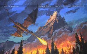 800px-Ted_Nasmith_-_Smaug_the_Destroyer