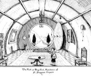 J.R.R._Tolkien_-_The_Hall_at_Bag-End,_Residence_of_B._Baggins_Esquire