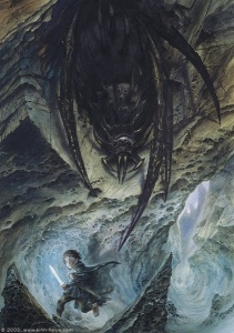 421px-John_Howe_-_Shelob_About_to_Leap_on_Frodo