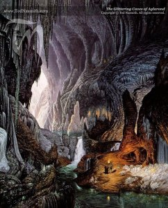 The Glittering Caves of Aglarond, by Ted Nasmith