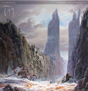 583px-Ted_Nasmith_-_The_Argonath