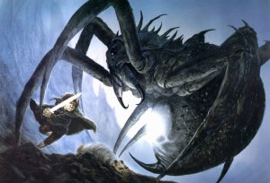 800px-John_Howe_-_Sam_and_Shelob