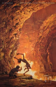 At the Cracks of Doom, by Ted Nasmith