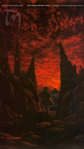 Sam Enters Mordor Alone by Ted Nasmith